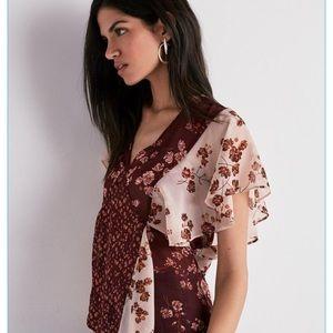NWT Lucky Brand Short sleeve Blouse Small